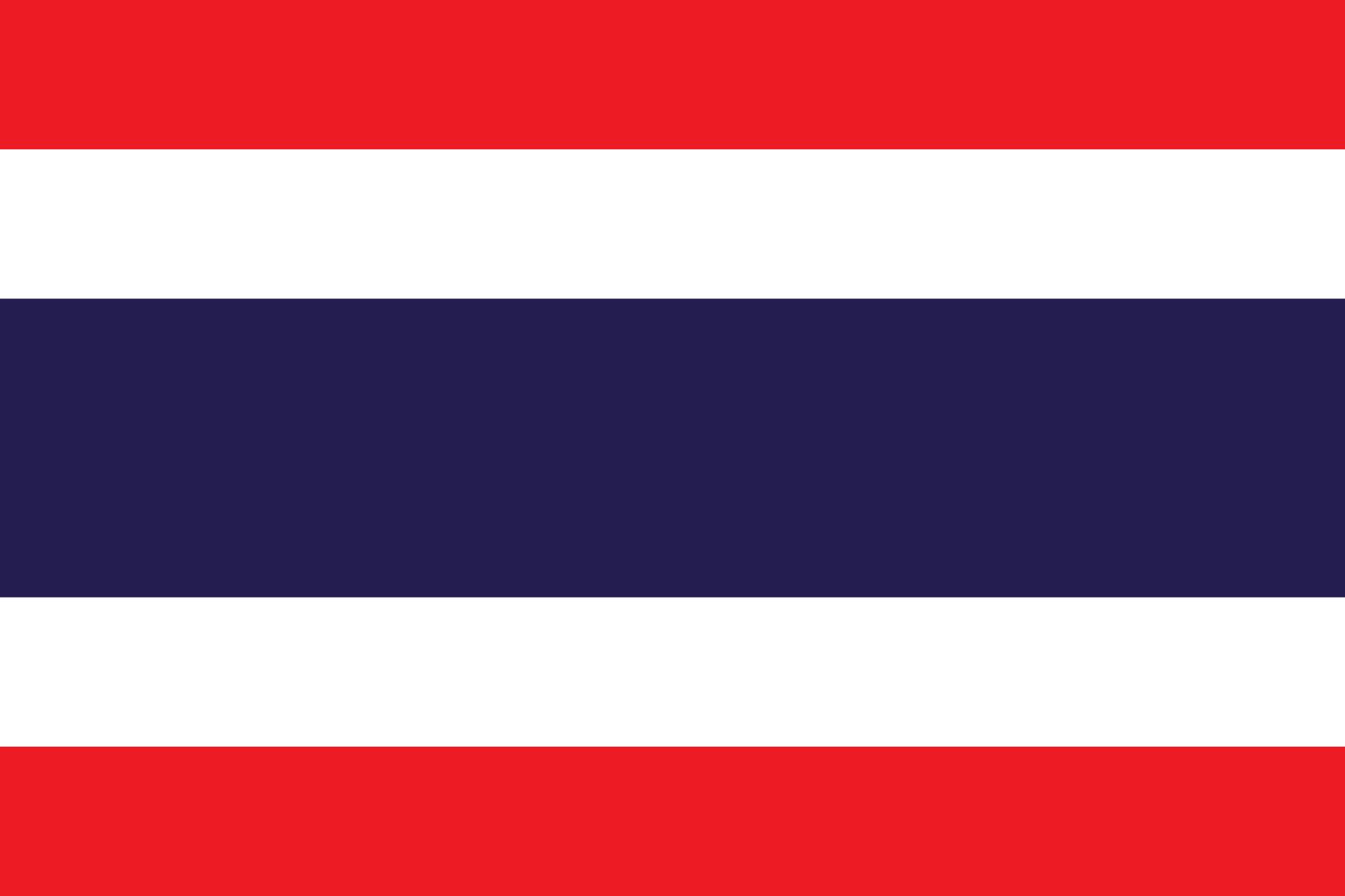 Таиланд флаг в векторном формате (SVG) .